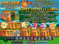 Lions Lair free game